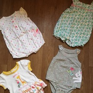 4 babygirl rompers..3 months ..carters